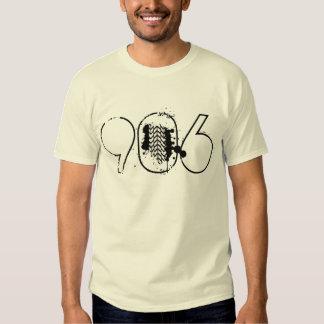 """""""906"""" camiseta blanca de la pisada del neumático remera"""