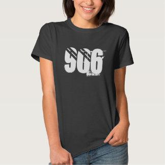 """""""906"""" camiseta superior de las señoras de la playera"""