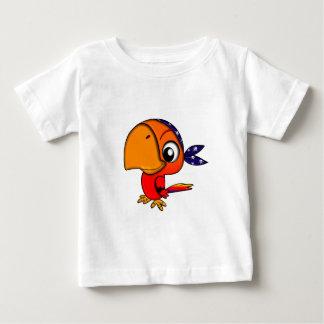 906 CUTE CHEEKY PIRATE PARROT CARTOON BABY T-Shirt