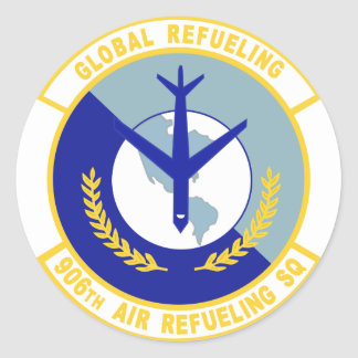 906th Air Refueling Squadron Classic Round Sticker