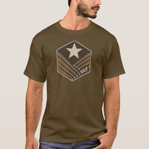 907th crest tshirt _ Dark Earth