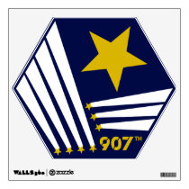 907th crest Wall Cling (non-distressed) Wall Decal