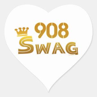 908 New Jersey Swag Heart Sticker