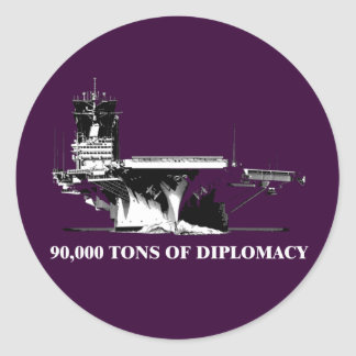 90,000 tons of diplomacy classic round sticker