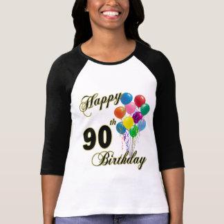90.a camiseta feliz del cumpleaños