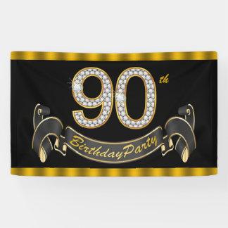 90.a fiesta de cumpleaños del oro negro lona