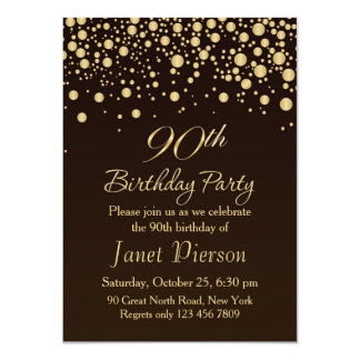 90.a invitación de la fiesta de cumpleaños del