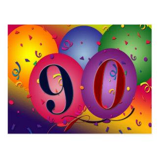 90.a invitación de la postal de la fiesta de cumpl