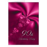 90.a invitación elegante de la fiesta de tarjeta de felicitación