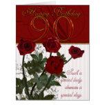 90.a tarjeta de cumpleaños del gigante con los ros