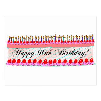 90.a torta de cumpleaños tarjetas postales