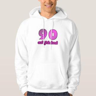 90 And Fabulous Birthday Hoodie