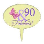 90 and Fabulous Oval Cakepick Cake Pick