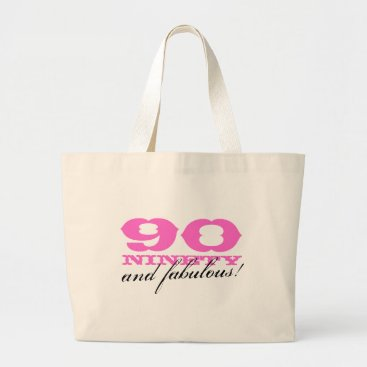 birthday 90 and fabulous tote bag   gift for 90th Birthday