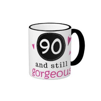 90 And Still Gorgeous Birthday Gift Idea For Her Ringer Mug