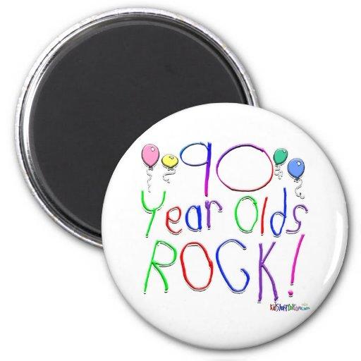 ¡90 años de la roca! imanes de nevera