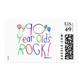 ¡90 años de la roca! sellos