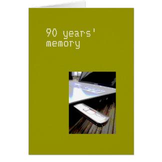 90 años de tarjeta