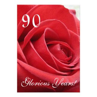 ¡90 años gloriosos - Celebración del cumpleaños Invitación