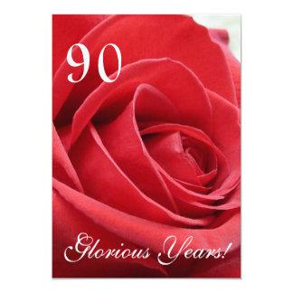 """¡90 años gloriosos! - Celebración del cumpleaños Invitación 5"""" X 7"""""""