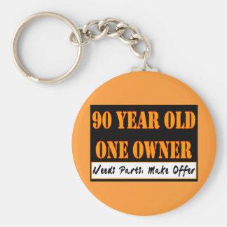 90 años, un dueño - las piezas de las necesidades, llavero redondo tipo pin