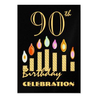 90.as - 99.as velas del oro de la invitación de la