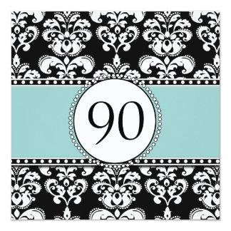 90.as invitaciones del cumpleaños del damasco invitación