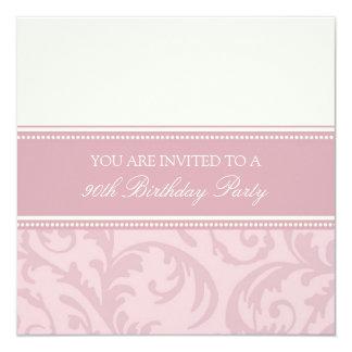 """90.as invitaciones florales poner crema rosadas de invitación 5.25"""" x 5.25"""""""