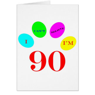 90 Balloons Greeting Cards