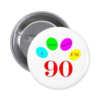 90 Balloons Pinback Button