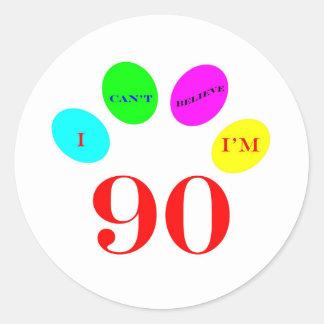 90 Balloons Round Stickers