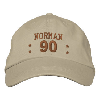 90 Birthday Custom Name STONE and PENNY V01F3 Embroidered Hats