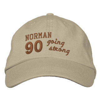 90 Birthday Going Strong STONE and PENNY V01F4 Embroidered Baseball Hat