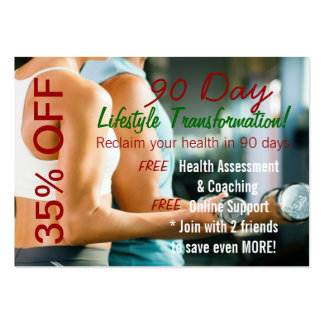90 Day Lifestyle Transformation Large Business Card