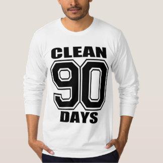 90 days  clean black on gray T-Shirt