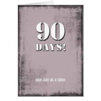 90 Days Sober Clean Birthday Card