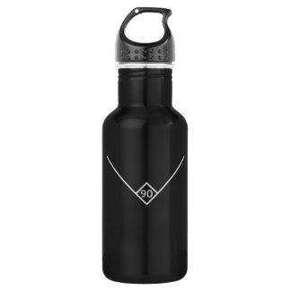 90 Degrees (White Logo) 18oz Water Bottle