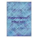90 días calman tarjeta de felicitación