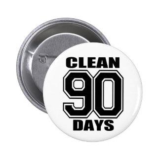 90 días limpian negro pin redondo de 2 pulgadas