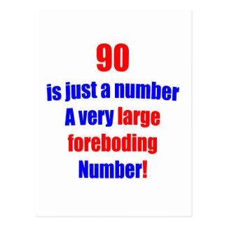 90 es apenas un número tarjetas postales