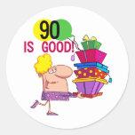 90 es buenos camisetas y regalos del cumpleaños pegatinas