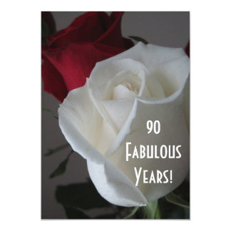 90 Fabulous Years!-Birthday-Roses Card