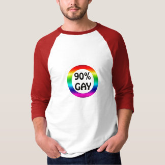 90% Gay Rainbow by PercentGay.com T-Shirt