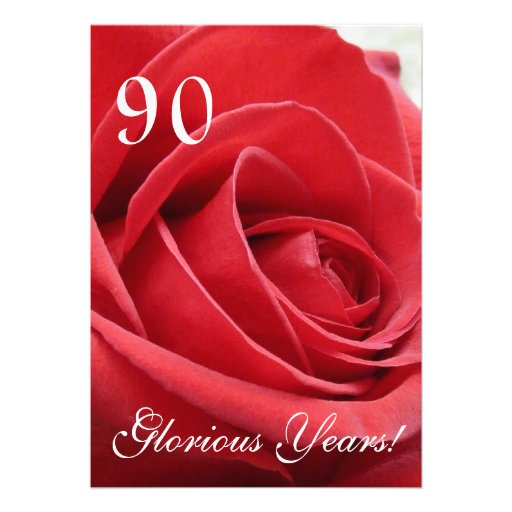90 Glorious Years!-Birthday Celebration Personalized Announcement