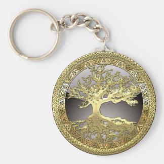 [90] Golden Celtic Tree of Life [3D] Keychain