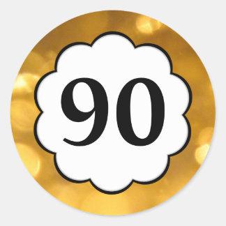 90 - Golden Numbers Sticker