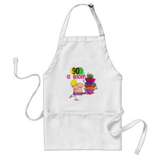 90 is Good Birthday Tshirts and Gifts Adult Apron