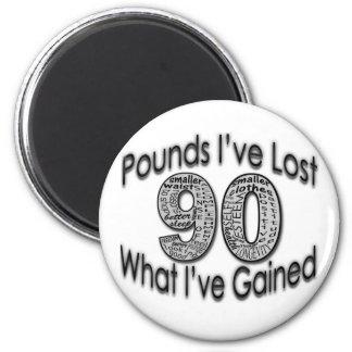 90 libras de imán perdido