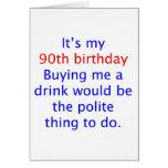 90 me compran una bebida tarjeton