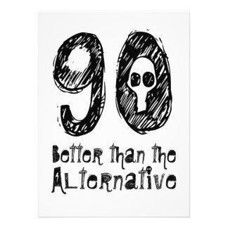 90 mejor que el cumpleaños divertido Q90 de la Anuncios Personalizados